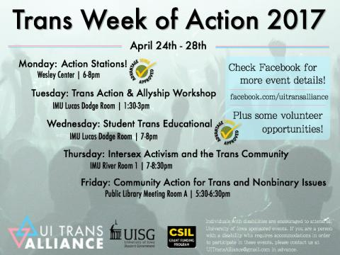 Trans Week of Action 2017